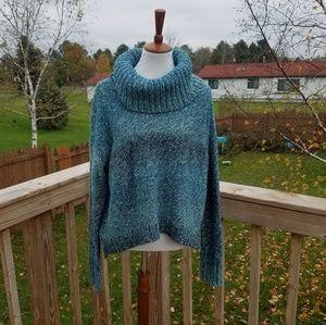 American Eagle Blue Cowl Neck Sweater